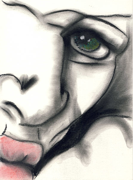Herwig Maria Stark, THE OTHER, series HISTORY REPEATING, 28,5 x 21 cm, mixed media on paper