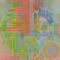 Herwig Maria Stark, DER MANN OHNE NAMEN, 60 x 60 x 4 cm, mixed media on canvas, 2019_03